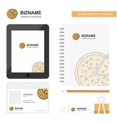 Pizza business logo tab app diary pvc employee vector