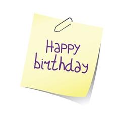 reminder happy birthday color vector image