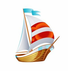 Sailing icons art symbol vector image