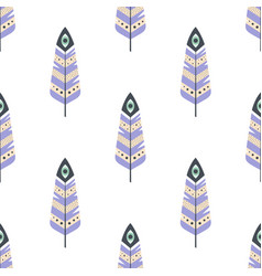 seamless pattern with magic feathers vector image
