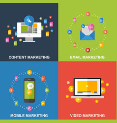 set of marketing design concepts vector image