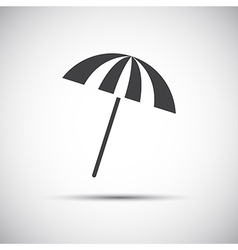 Simple grey beach umbrella vector