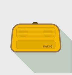 stereo radio icon flat style vector image