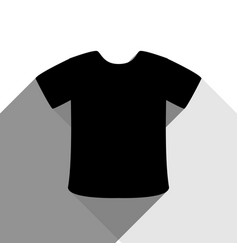 t-shirt sign black icon with two flat vector image