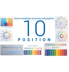 templates business infographics 10 positions vector image