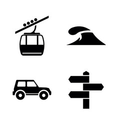 tourism travel adventure simple related vector image