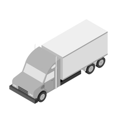 Truck icon in monochrome style isolated on white vector