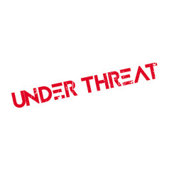 Under threat rubber stamp vector