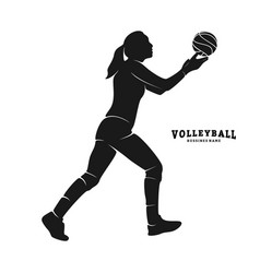 Volleyball player silhouette volleyball player vector