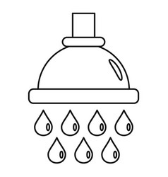 water drop wash icon outline style vector image