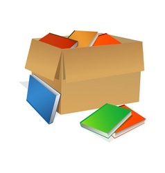 books in box vector image