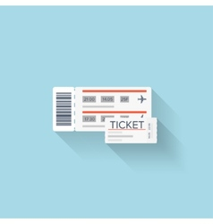 Flat web icon Paper ticket vector image