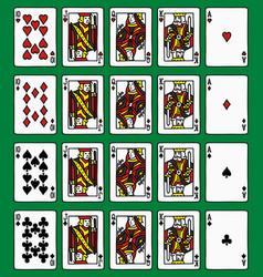 four poker royal flush vector image