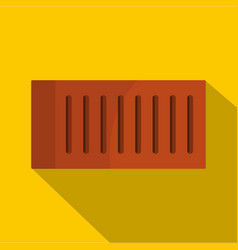 orange brick icon flat style vector image
