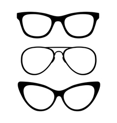 Set of classic glasses vector image vector image