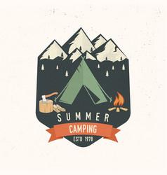 summer camping badge vector image