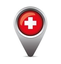 Swiss flag pointer vector image