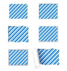 Bavaria flag set vector image