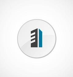 building icon 2 colored vector image