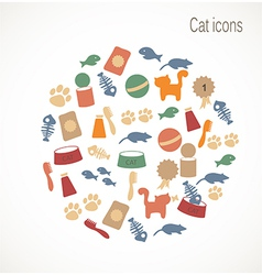 Cat icons vector image vector image