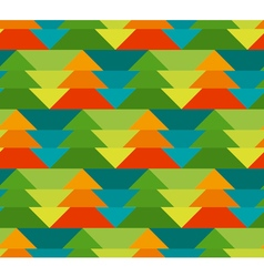 Colorful christmas seamless pattern with trees vector