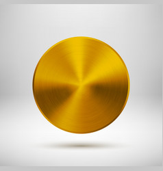 Gold gold abstract circle button template vector