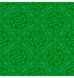 green seamless pattern vector image vector image