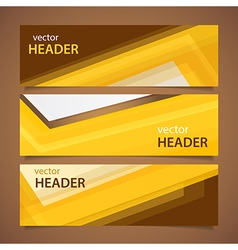 Orange headers vector