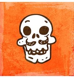 Skull Cartoon Background vector image vector image