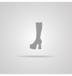 Woman Hessian boots icon vector image