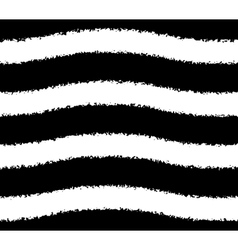 Black and white pattern of wavy grunge stripes vector