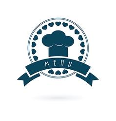 Chef menu log vector image vector image