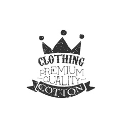 Cotton clothing black and white vintage emblem vector