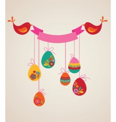 floral Easter banner vector image vector image