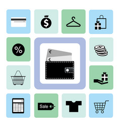 icons shopping set vector image