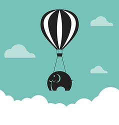 image of elephant with balloons vector image vector image