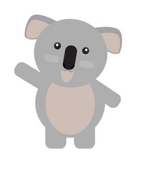 isolated cute koala vector image vector image