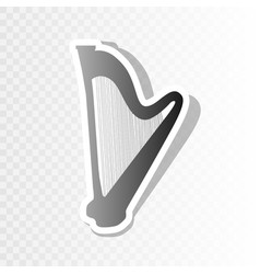 musical instrument harp sign new year vector image vector image