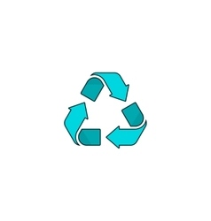 Recycling symbol logo isolated on white vector image vector image
