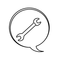 red wrench emblem icon vector image vector image