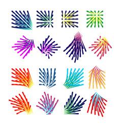 abstract dot shape vector image