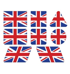buttons with Union Jack flag vector image vector image