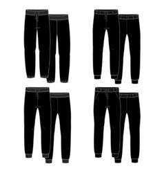 Girls trousers Black vector image vector image