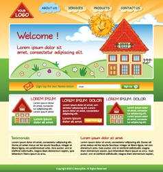 house web template vector image