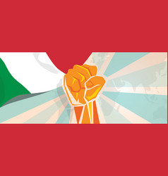 italy fight and protest independence struggle vector image