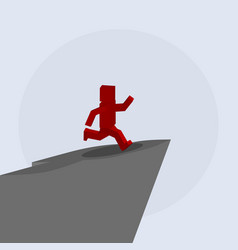 man jumping from the mountain vector image