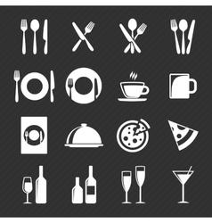 Restaurant icon set vector image vector image
