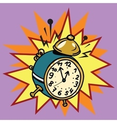 The alarm clock rings time vector image