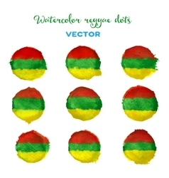 Watercolor reggae style dots vector image