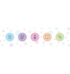 5 clip icons vector